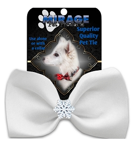 Snowflake Widget Pet Bowtie White